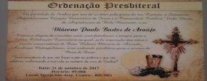 Convite – Ordenação Presbiteral